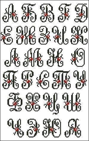 Алфавит - Схемы крестом