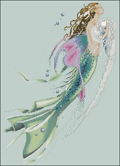 Картинки русалок для вышивки