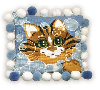 Кот в мыльных пузырях - Детям